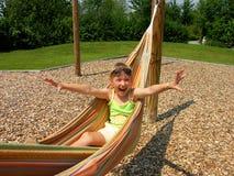 dziewczyna hammock fotografia royalty free