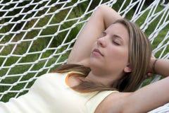 dziewczyna hammock Zdjęcie Stock