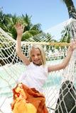 dziewczyna hammock Obrazy Royalty Free