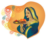 dziewczyna hindus ilustracji