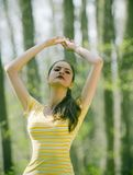 dziewczyna hindusa medytować obrazy royalty free