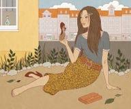 Dziewczyna i but Zdjęcie Stock