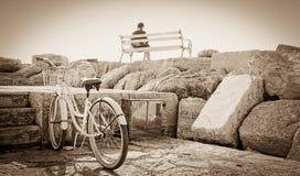 Dziewczyna i bicykl Zdjęcia Stock