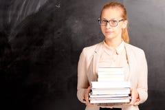 Dziewczyna i blackboard Zdjęcie Stock
