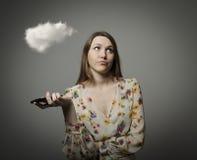 Dziewczyna i chmura Obraz Stock
