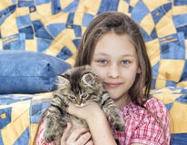 Dziewczyna i figlarka Fotografia Stock
