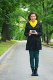Dziewczyna i kamera Zdjęcie Stock