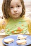 Dziewczyna i kanapka Zdjęcie Stock
