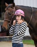 Dziewczyna i Koń Zdjęcia Stock
