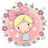 Dziewczyna i kwiaty ilustracja wektor
