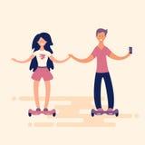 Dziewczyna i młody człowiek Obrazy Royalty Free