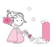 dziewczyna iść na piechotę golenie Fotografia Stock