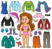 Dziewczyna i odzieżowy temat ustawiamy 2 ilustracji