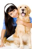 Dziewczyna i Pies Zdjęcia Stock