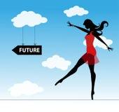 Dziewczyna i przyszłość Fotografia Royalty Free