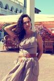 Dziewczyna i wiatr. Fotografia Stock