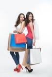 Dziewczyna i zakupy Zdjęcie Stock
