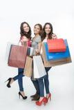 Dziewczyna i zakupy fotografia stock