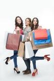 Dziewczyna i zakupy obrazy stock