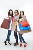 Dziewczyna i zakupy zdjęcia stock