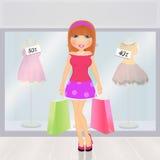 dziewczyna idzie target2185_1_ Obrazy Royalty Free