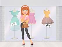 dziewczyna idzie target2185_1_ Obraz Royalty Free
