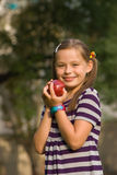 dziewczyna jabłczana Fotografia Royalty Free