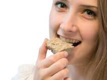 dziewczyna jedzenia Zdjęcia Royalty Free