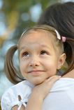 dziewczyna jej matka Zdjęcia Royalty Free
