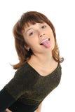 dziewczyna jej target1413_1_ jęzor Zdjęcia Royalty Free