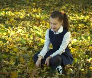 Dziewczyna jest smutna Obraz Royalty Free