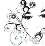 dziewczyna jest twarz royalty ilustracja
