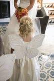 Dziewczyna Jest ubranym motyli skrzydła Zdjęcie Stock