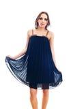 Dziewczyna jest ubranym suknię Obrazy Royalty Free