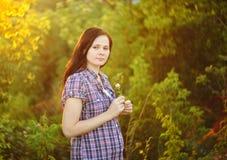 dziewczyna jest w ciąży Zdjęcie Royalty Free