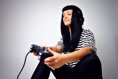 dziewczyna joystick Fotografia Stock