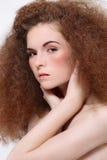 dziewczyna kędzierzawy włosy fotografia stock