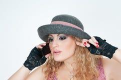 dziewczyna kapelusz Fotografia Stock