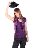 dziewczyna kapelusz Obraz Stock