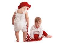 Dziewczyna kapelusz i chłopiec, miłość, walentynka dzień Fotografia Royalty Free