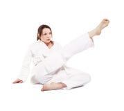 dziewczyna karate Zdjęcie Stock