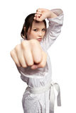 dziewczyna karate Obraz Stock