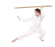 dziewczyna karate Obrazy Royalty Free
