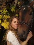 dziewczyna koń Obraz Royalty Free