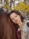 dziewczyna koń Zdjęcie Royalty Free