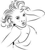 dziewczyna kontur royalty ilustracja