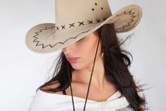 dziewczyna kowbojski kapelusz s Obrazy Stock