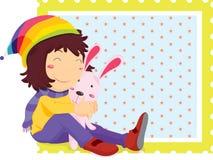 dziewczyna królik Obraz Stock