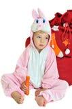 dziewczyna królik zdjęcie stock