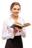 dziewczyna książkowy powabny uczeń Zdjęcia Royalty Free